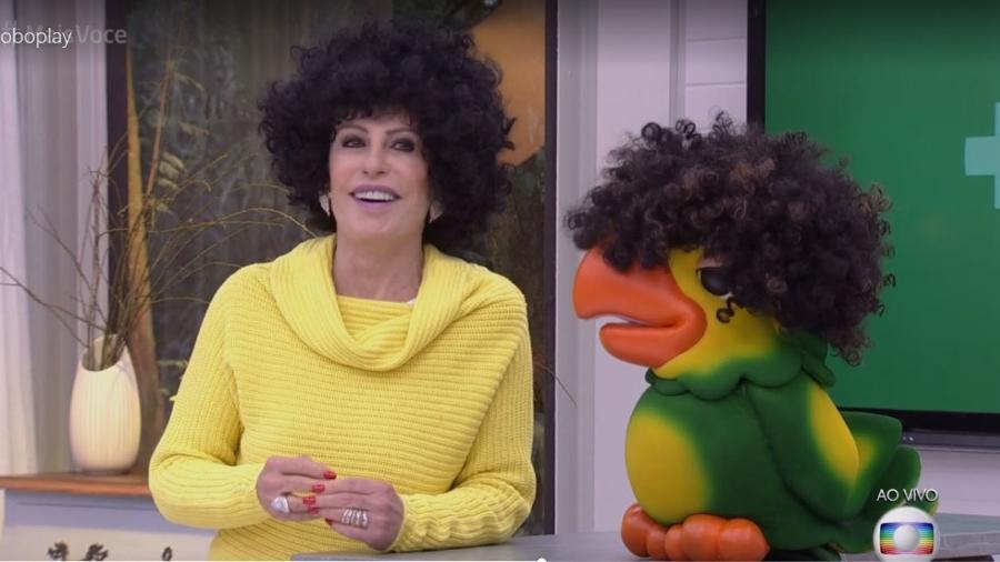 """Ana Maria apresenta """"Mais Você"""" de peruca black power - Reprodução/Globo"""