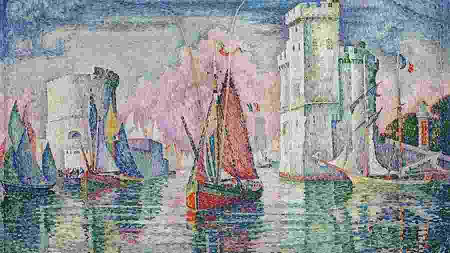 """""""Le Port of La Rochelle"""", de Paul Signac - Reprodução"""