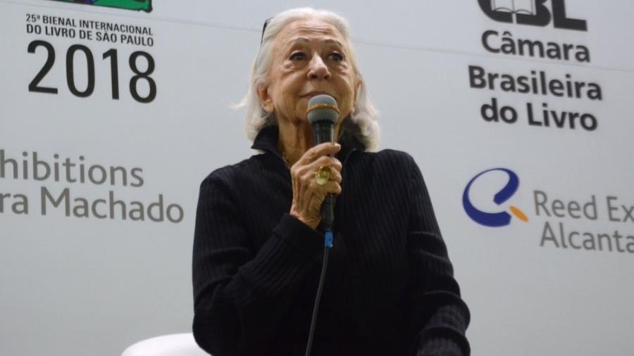 A atriz Fernanda Montenegro na Bienal Internacional do Livro, em São Paulo - Eduardo Martins / AGNEWS