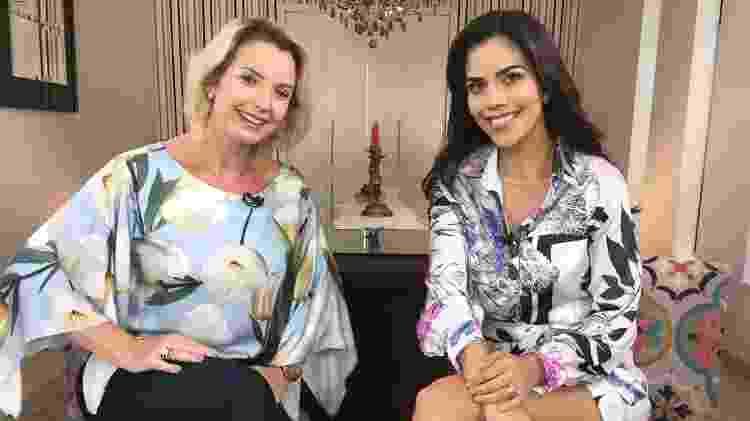 """Daniela Albuquerque entrevista Alessandra Scatena no """"Sensacional"""" - Divulgação/Rede TV! - Divulgação/Rede TV!"""