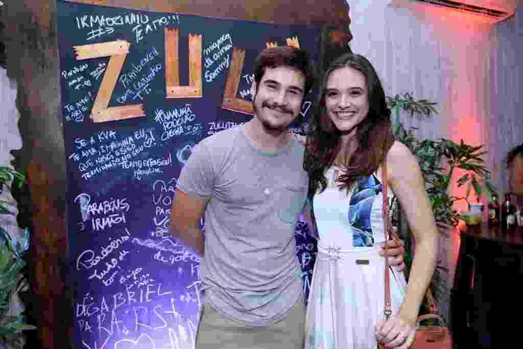 Nicolas Prattes e Juliana Paiva prestigiam festa de aniversário de Rafael Zulu na Barra da Tijuca, zona oeste do Rio - Anderson Borde/Ag.News