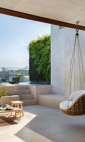 Poltrona suspensa terraço