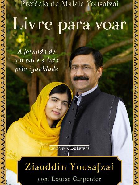 """Malala e seu pai, Ziauddin Yousafzai, que lança o livro """"Livre Para Voar"""" - Divulgação"""