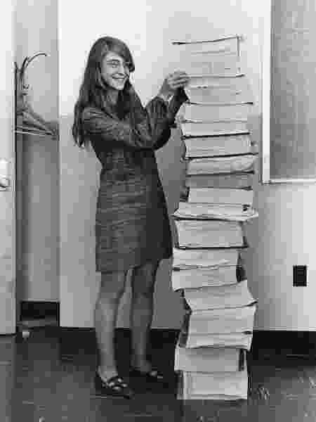 Margaret chefiou a equipe de programação da Apollo 11 - Draper Laboratory