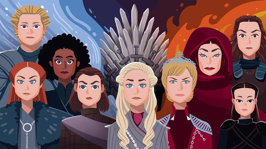 De Daenerys Targaryen a Lyanna Mormont, as mulheres foram o centro das atenções da última temporada da série  - DAVIES SURYA/BBC