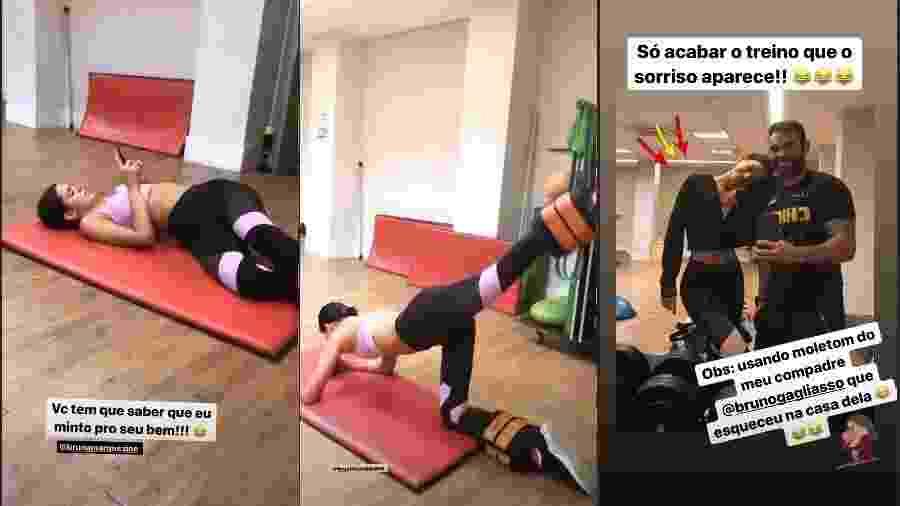 Bruna Marquezine pegou pesado nos treinamentos após celebrar aniversário de 24 anos - Reprodução