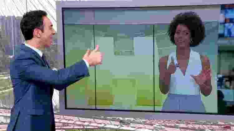 Cesar Tralli no SP1 - Reprodução/TV Globo - Reprodução/TV Globo