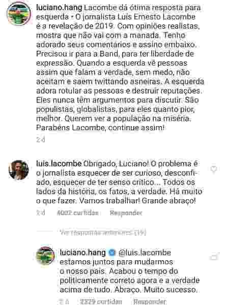 Luciano Hang elogia Luís Ernesto Lacombe - Reprodução/Instagram/luciano.hang