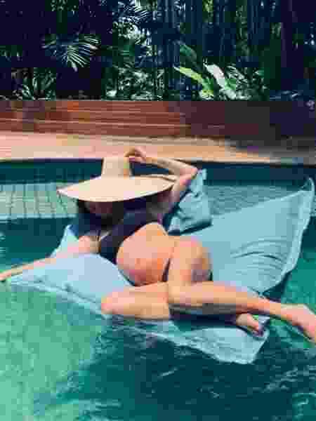 Fernanda Lima posa grávida na piscina - Reprodução/Instagram