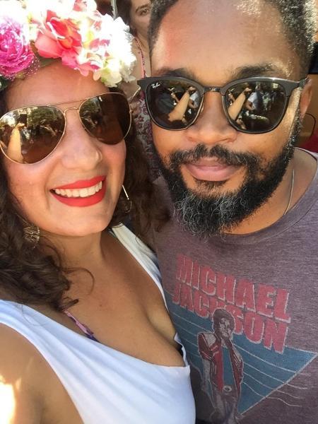 Fabiana e Ader: ela está aprendendo a lidar com o racismo para proteger a filha - Arquivo Pessoal