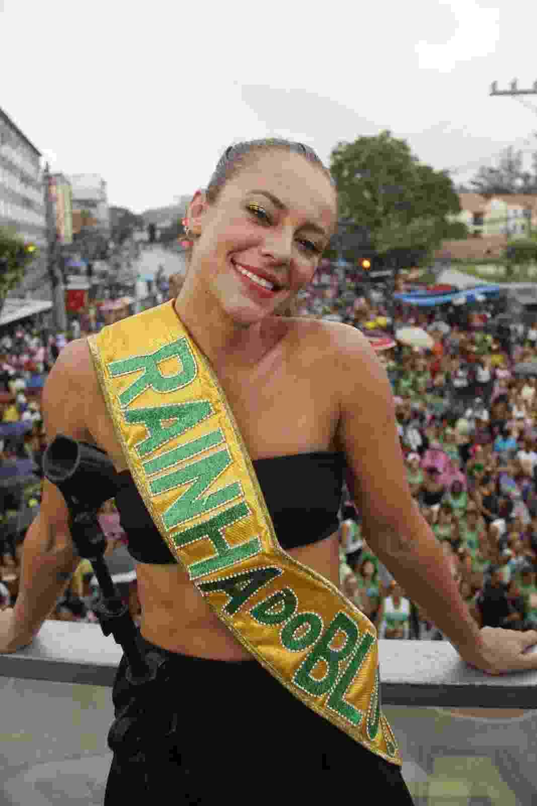 Paolla Oliveira é rainha do bloco Elymar pra Pular, do cantor Elymar Santos, no Rio de Janeiro - J Humberto/AgNews