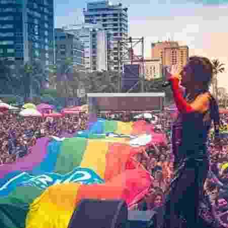 Bloco no Rio teve bandeirão LGBT com símbolo da Prefeitura - Manoela Mendes/Divulgação