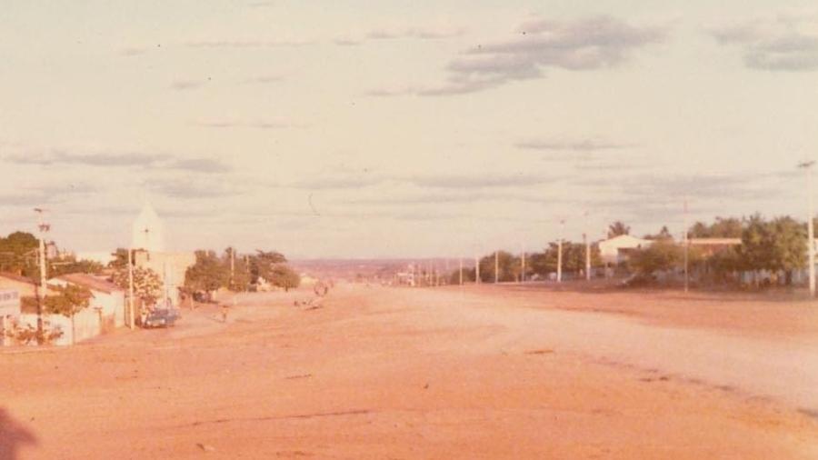 Foto de 1983 da pequena Varjota, cidade de 20 mil habitantes no Ceará - Arquivo pessoal/IBGE Cidades