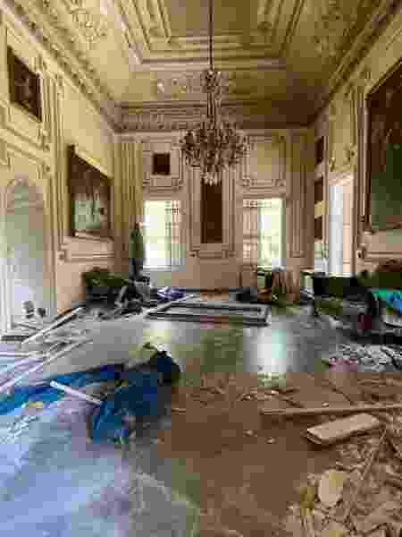 Palácio destruido - Reprodução/Instagram - Reprodução/Instagram