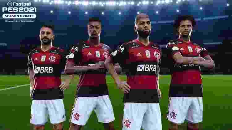 Flamengo no PES - Reprodução - Reprodução