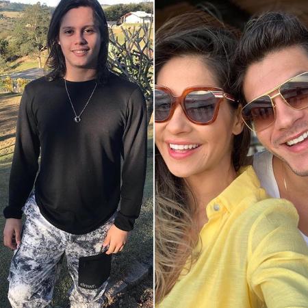 Lucas Cardi / Mayra Cardi e Arthur Aguiar - Reprodução/Instagram