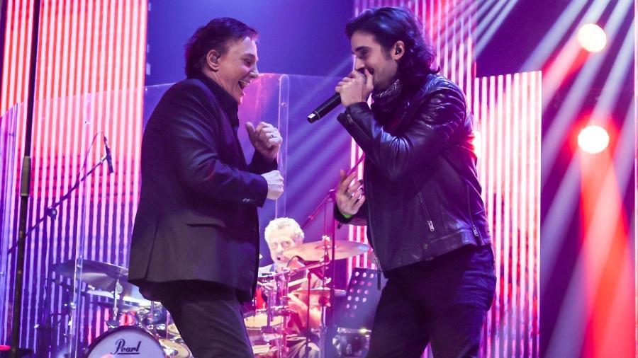 Fábio Jr canta com Fiuk em primeiro show presencial após pandemia - Manuela Scarpa/Brazil News