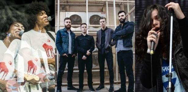 Boogarins, Scalene e Far From Alaska: representantes da nova leva do rock nacional - Francisco Cepeda/AGNews/Divulgação/Adriano Vizoni/Folhapress