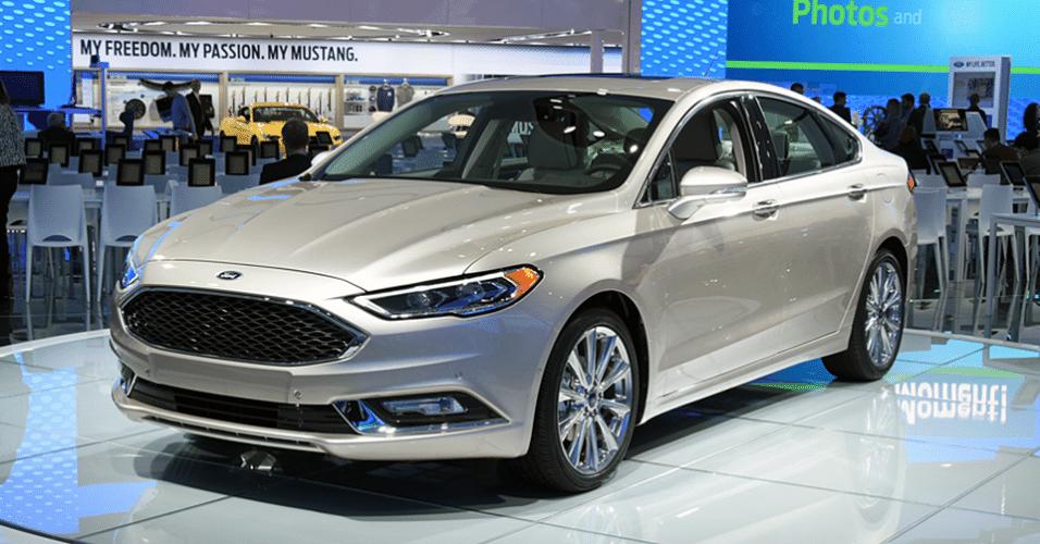 Ford Fusion 2017 no Salão de Detroit 2016
