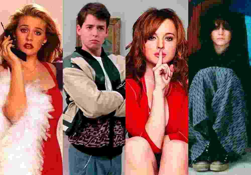 """Cenas dos filmes """"As Patricinhas de Beverly Hills"""" (1995), de Amy Heckerling; """"Curtindo a Vida Adoidado"""" (1986), de John Hughes; """"Meninas Malvadas"""" (2004), de Mark Waters e """"Clube dos Cinco"""" (1985), de John Hughes - Montagem/Reprodução"""