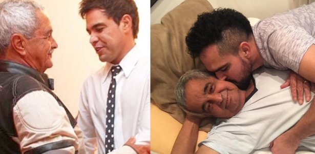 Zezé Di Camargo e Luciano publicam fotos com o pai nas redes sociais - Reprodução/Instagram