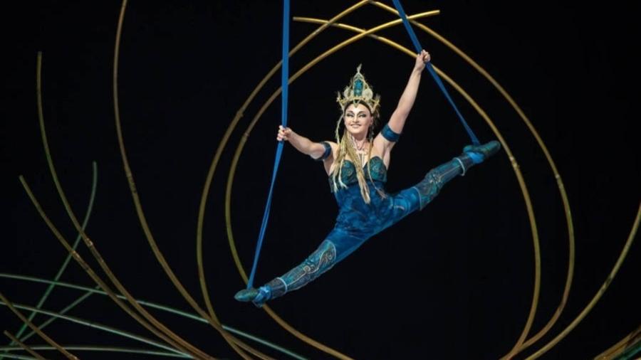 """Imagem do espetáculo """"Amaluna"""", do Cirque du Soleil  - Getty Images"""