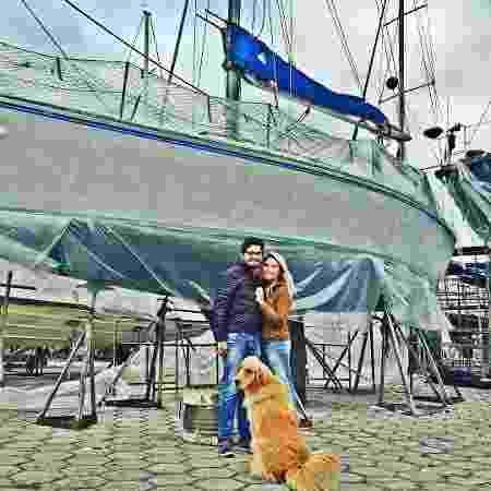 Casal investiu R$ 200 mil entre compra e reforma do veleiro - Arquivo pessoal