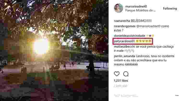 Patrícia Cardoso troca mensagens carinhosas com Marcelo Adnet no Instagram - Reprodução/Instagram/marceloadnet0 - Reprodução/Instagram/marceloadnet0