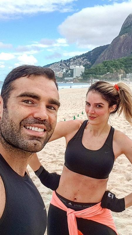 O personal trainer Chico Salgado e Rafa Brites - Reprodução/Instagram