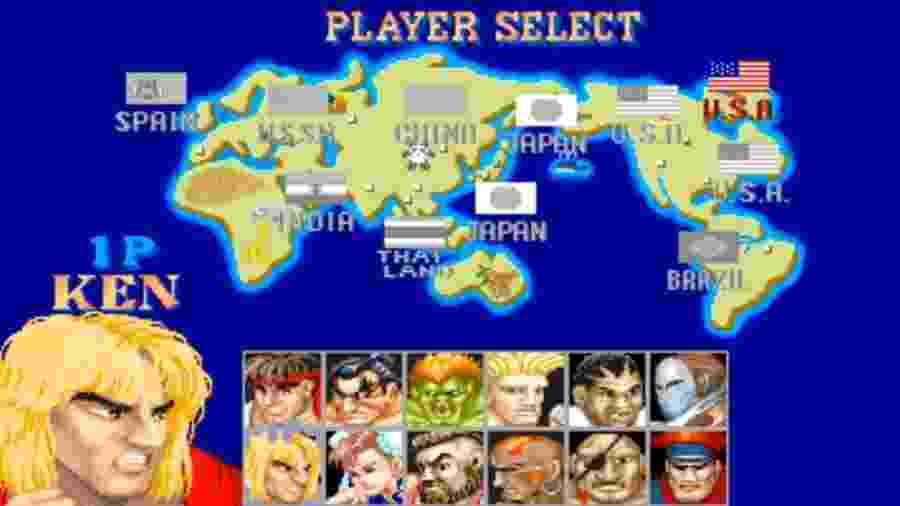 """""""Pai"""" dos games de luta modernos, """"Street Fighter II"""" trazia lutadores capazes de fazer qualquer um se irritar com apelações - Reprodução"""