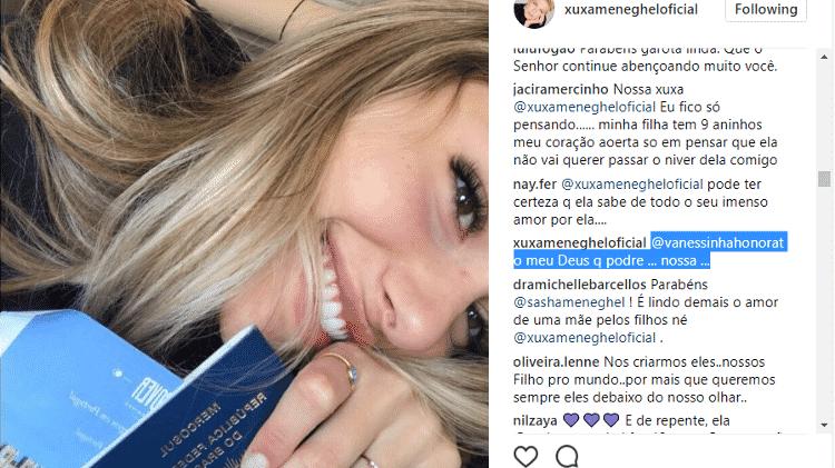 Xuxa responde a seguidor - Reprodução/Instagram - Reprodução/Instagram