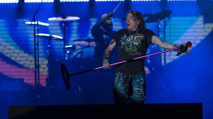 """Axl Rose com o Guns N"""" Roses - Bruna Prado/UOL"""