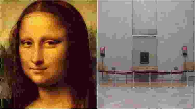 Mona Lisa, no museu do Louvre - Reprodução/Leonardo Da Vinci - Akifukami/creativecommons.org/licenses/by-sa/3.0/deed.en - Reprodução/Leonardo Da Vinci - Akifukami/creativecommons.org/licenses/by-sa/3.0/deed.en