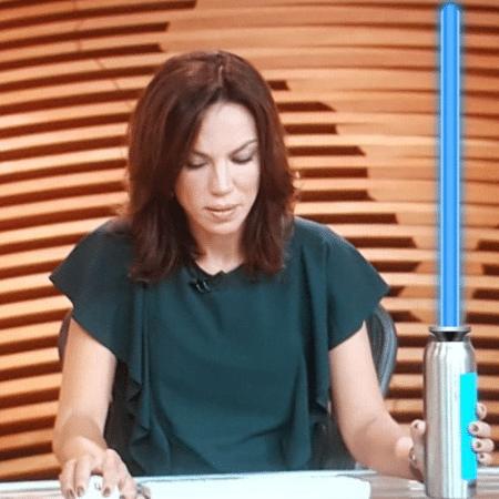 """Ana Paula Araújo em montagem no """"Bom Dia Brasil"""" - Reprodução/Instagram/appaaraujo"""