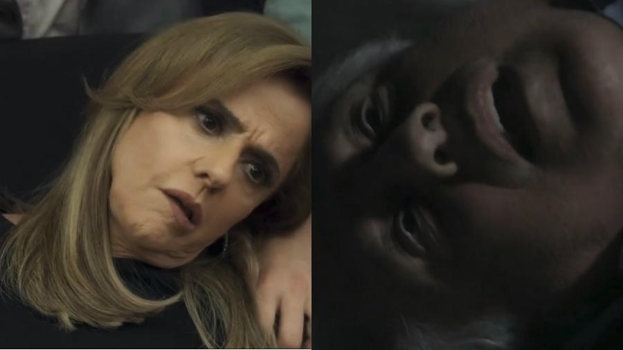 """Sophia (Marieta Severo) de """"O Outro Lado do Paraíso"""" e César (Antônio Fagundes) de """"Amor à Vida"""". Ambos terão finais quase idênticos - Reprodução/Globo/Montagem UOL"""