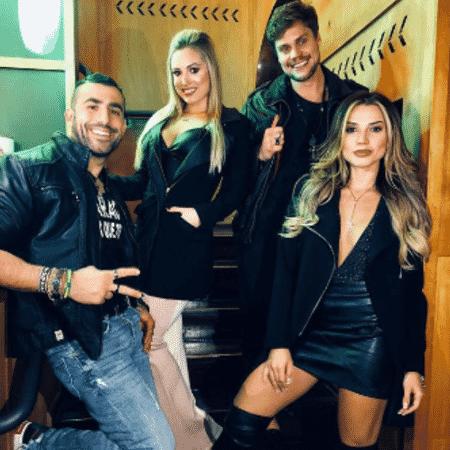"""Kaysar, Jéssica, Breno e Paula se reencontram após o """"BBB18"""" - Reprodução/Instagram"""