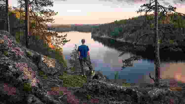 A Finlândia abriga florestas perfeitas para longas caminhadas - Getty Images/iStockphoto