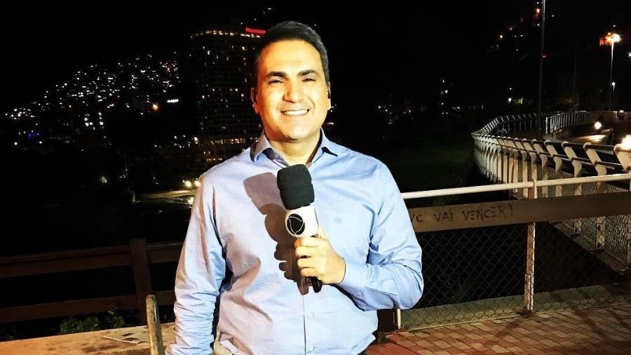 Dennes Queiroz, da Record RJ, que foi atropelado durante reportagem - Reportagem/Instagram