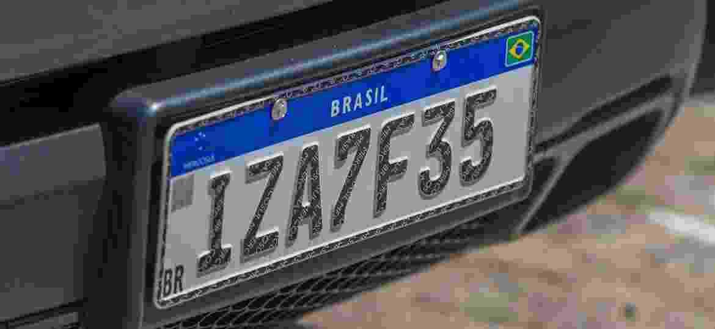 Carro emplacado no Rio Grande do Sul circula já com o novo padrão - Evandro Leal/Agência Freelancer