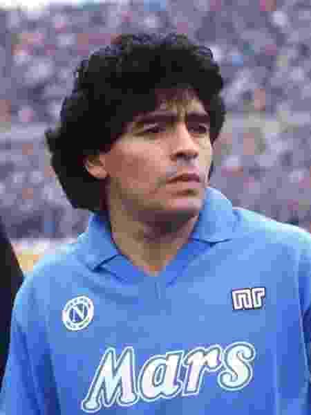 Diego Maradona, durante passagem pelo Napoli - Reprodução