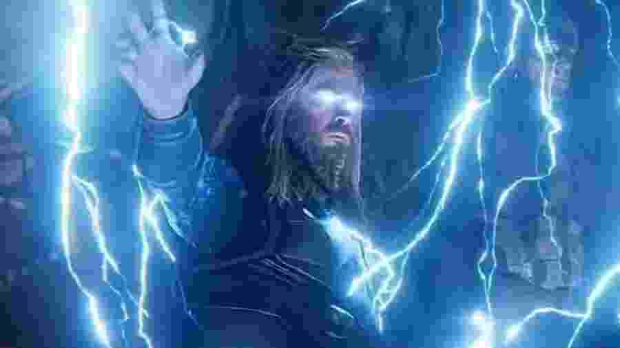 """Thor em cena de """"Vingadores: Ultimato"""" - Divulgação"""