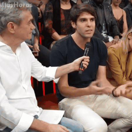 Kaká no Altas Horas especial sobre Sandy e Junior - Reprodução/TV Globo