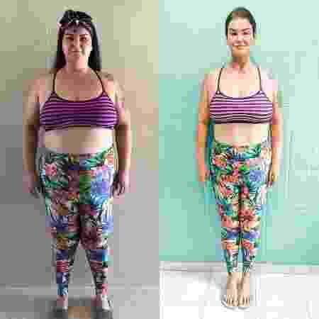Paula perdeu 35 quilos após fazer a cirúrgia bariátrica - Arquivo Pessoal