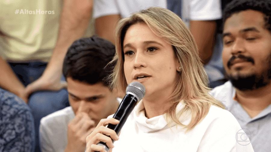 """Fernanda Gentil participa do """"Altas Horas"""", da TV Globo - Reprodução/TV Globo"""