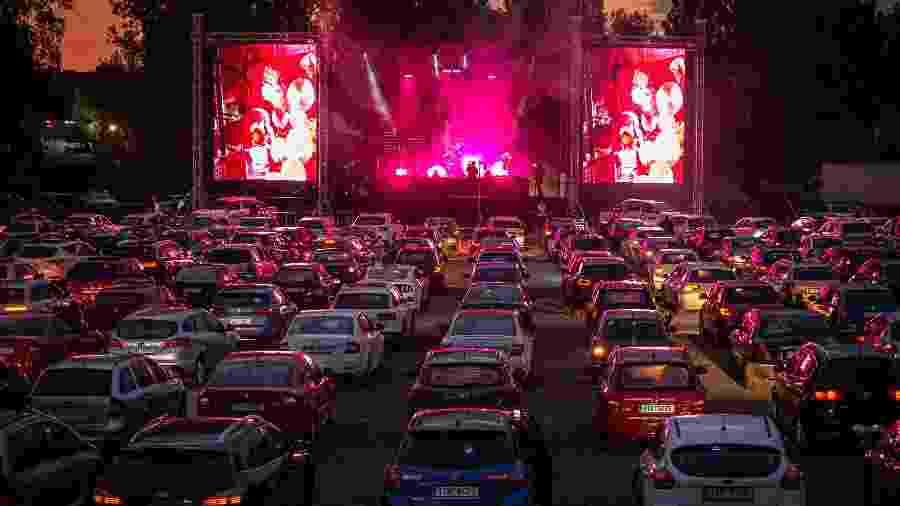 Shows ao vivo em drive-ins já são tendência nos Estados Unidos e em países da Europa  - Lukas Kabon/Getty Images