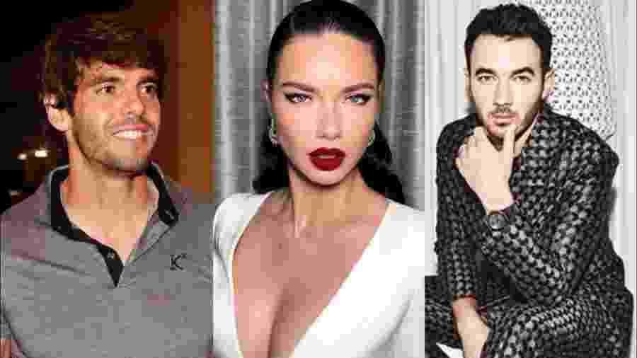 Kaká, Adriana Lima e Kevin Jonas - Reprodução/ Instagram