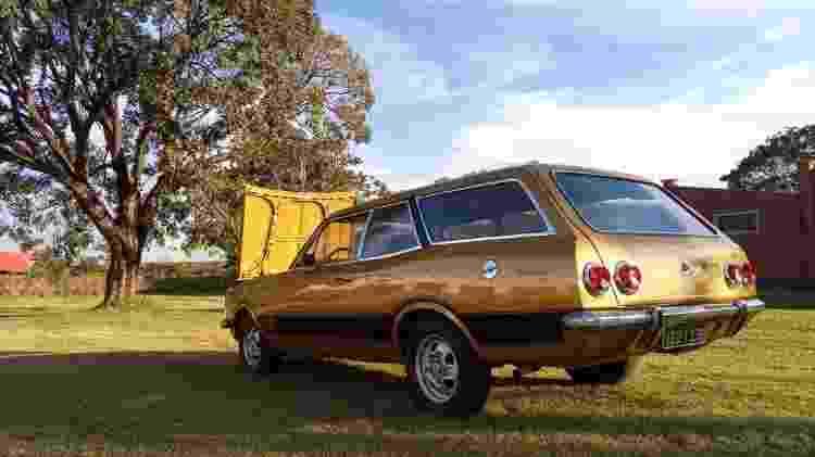 Chevrolet Caravan SS 1978 Alexandre Badolato coleção colecionador motor 6 cilindros traseira - Arquivo pessoal - Arquivo pessoal