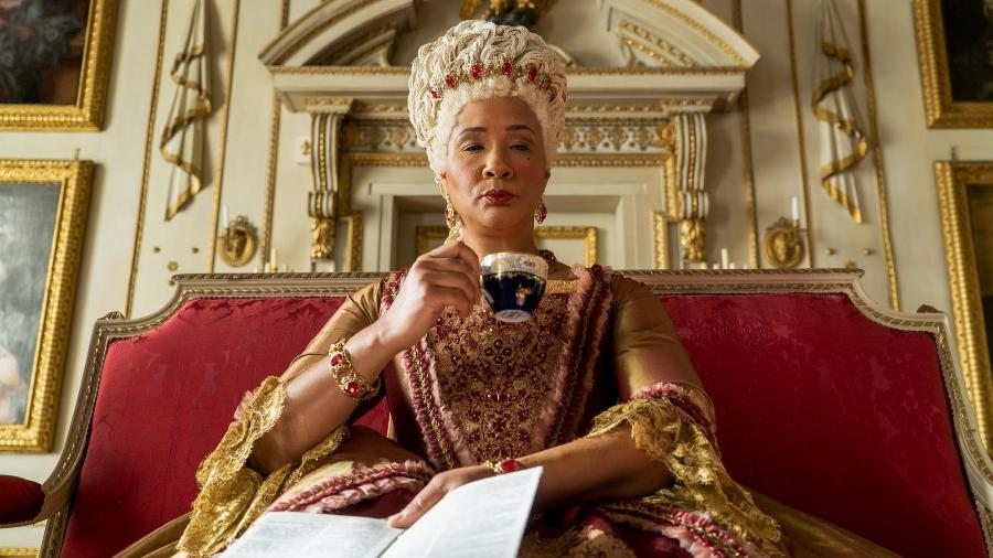 "Golda Rosheuvel é a rainha Charlotte em ""Bridgerton"" - Liam Daniel/Netflix"