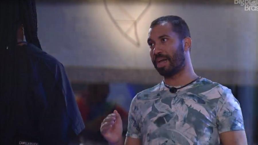 BBB 21: Gilberto fala que se emocionou com a festa - Reprodução/ Globoplay