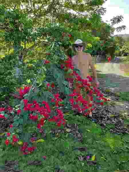 Frequentador do New Cambium, condomínio naturista da República Dominicana - Reprodução/Facebook - Reprodução/Facebook